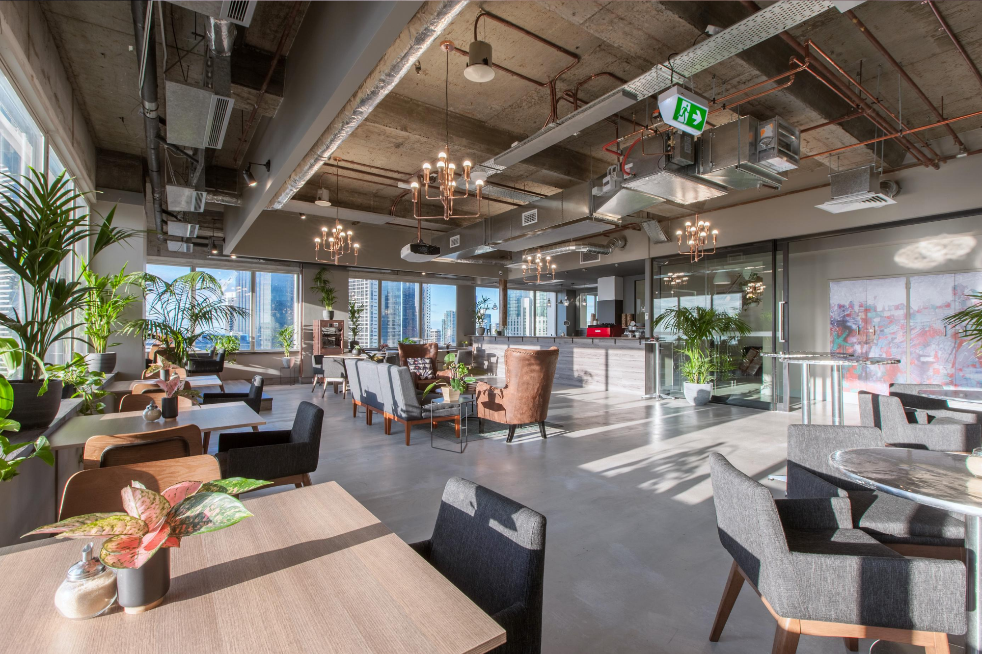 Melbourne CBD event space in cafe style seating