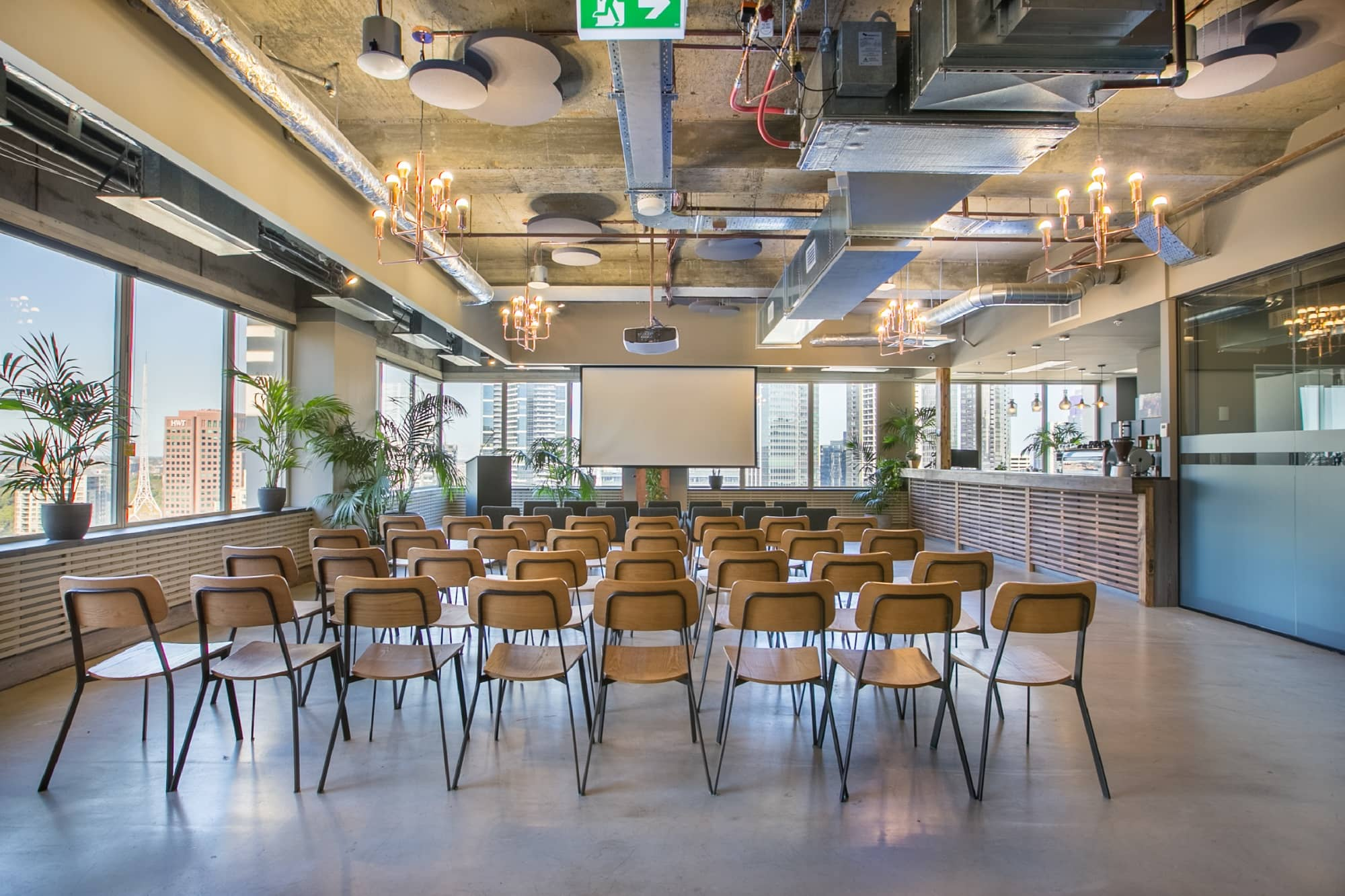 CBD event space with theatre seating