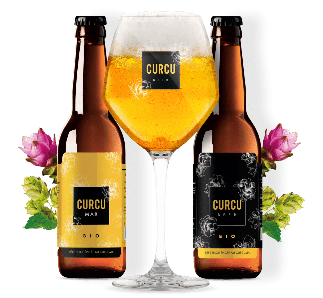 Bières belges au curcuma