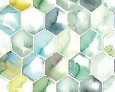 Printed acoustic felt Glass Watercolours thumbnail