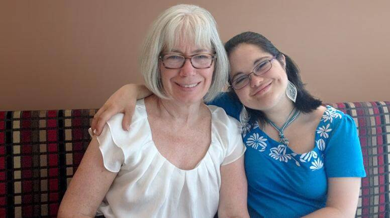 Image of Ruth and her mom, 'Susan'.