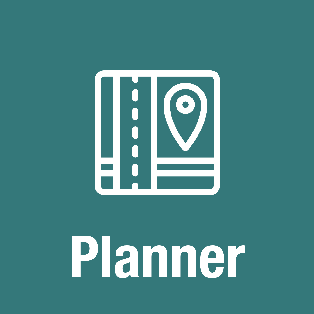A gps map icon