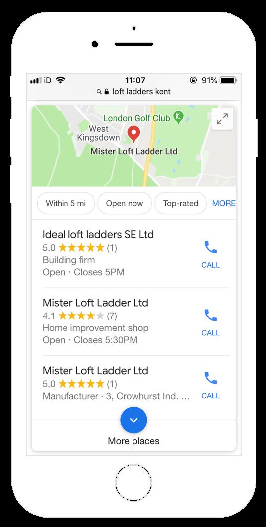 Google my business verfified screen shot