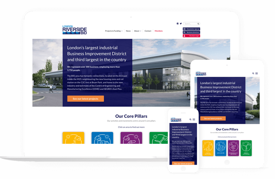 Riverside bid customised web design for a london company