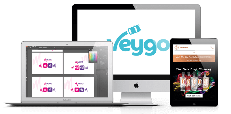 Web Design London for Veygo Logo, Movo & Anno Gin