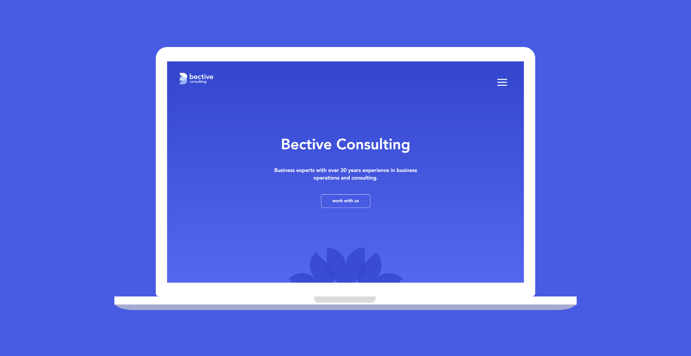 Bective Consulting website on laptop
