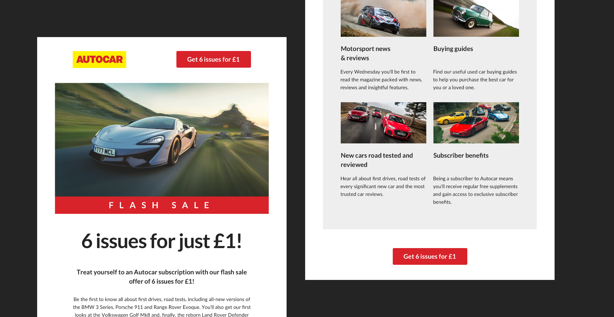 Autocar email layout