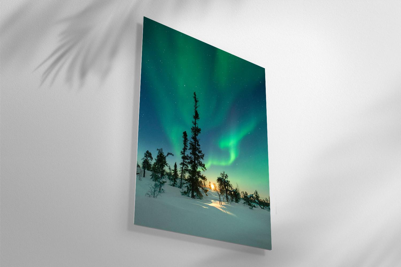 Northern light photo.