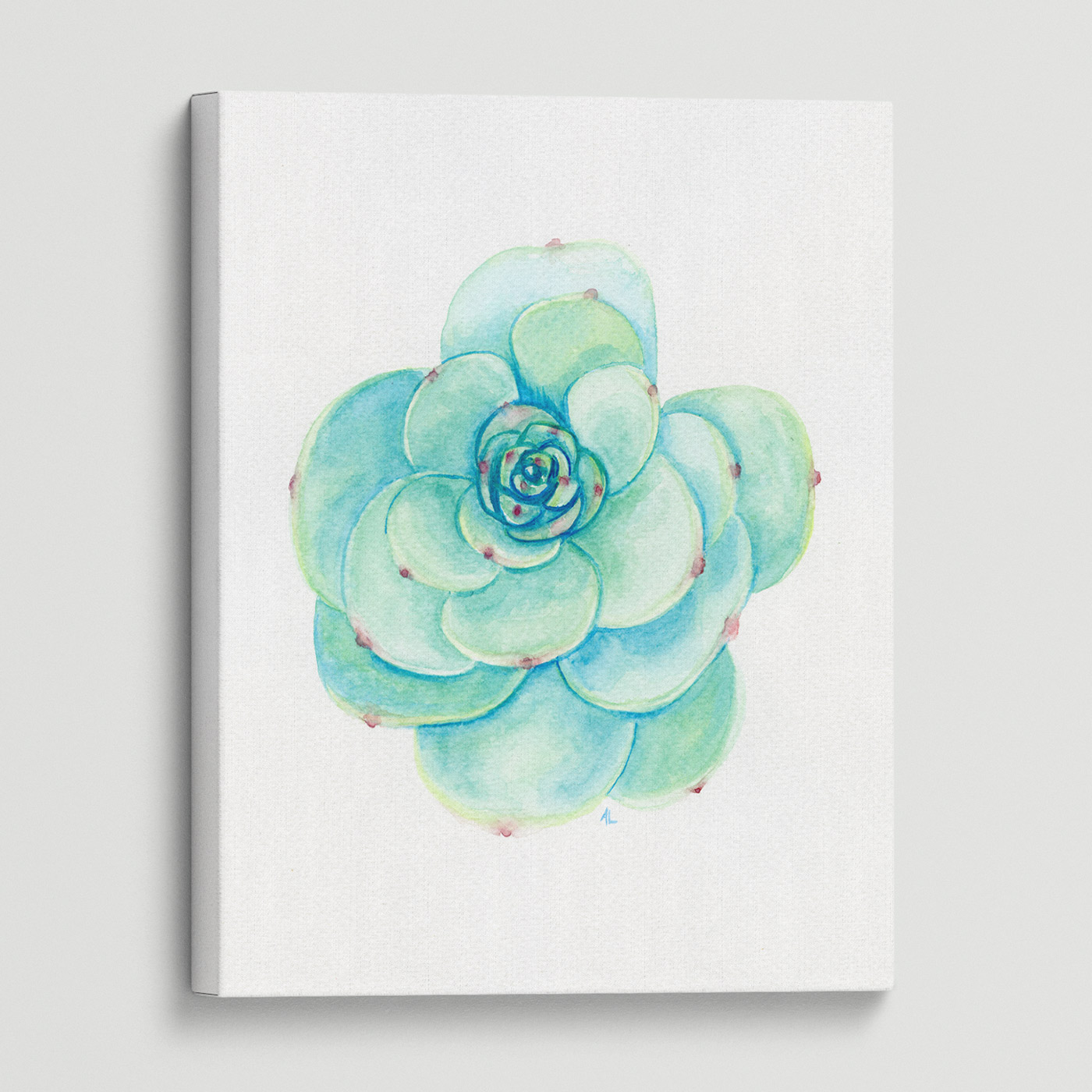 Water-colour print of flowers.