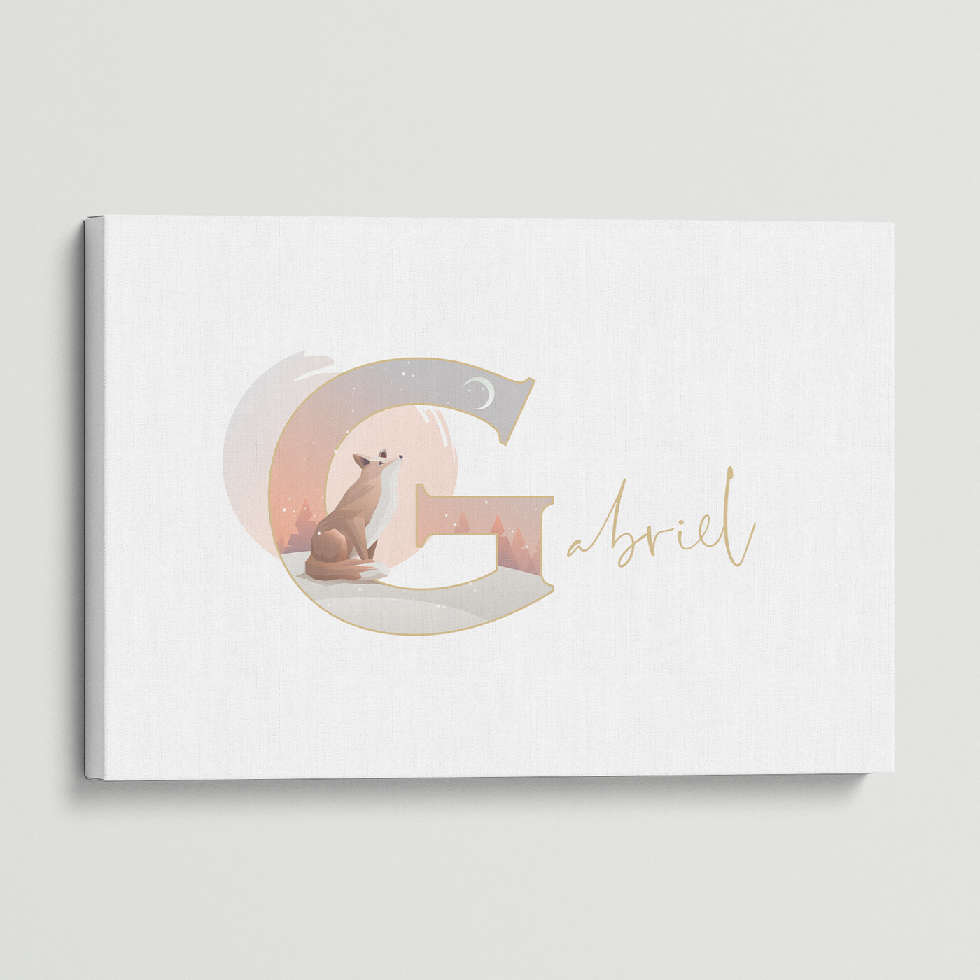 """Illustrated water-colour print of alphabet letter """"G""""."""