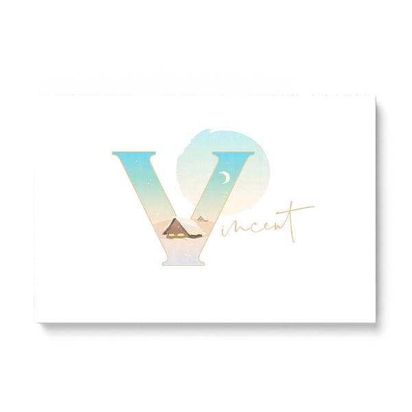 "Illustrated water-colour print of alphabet letter ""V""."