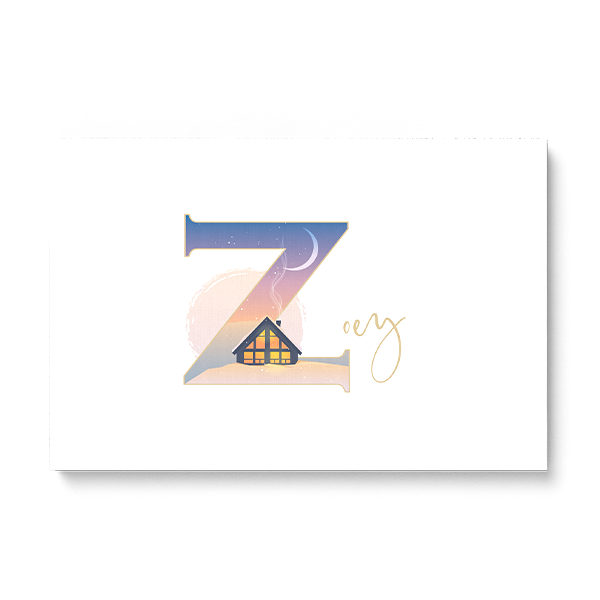 "Illustrated water-colour print of alphabet letter ""Z""."