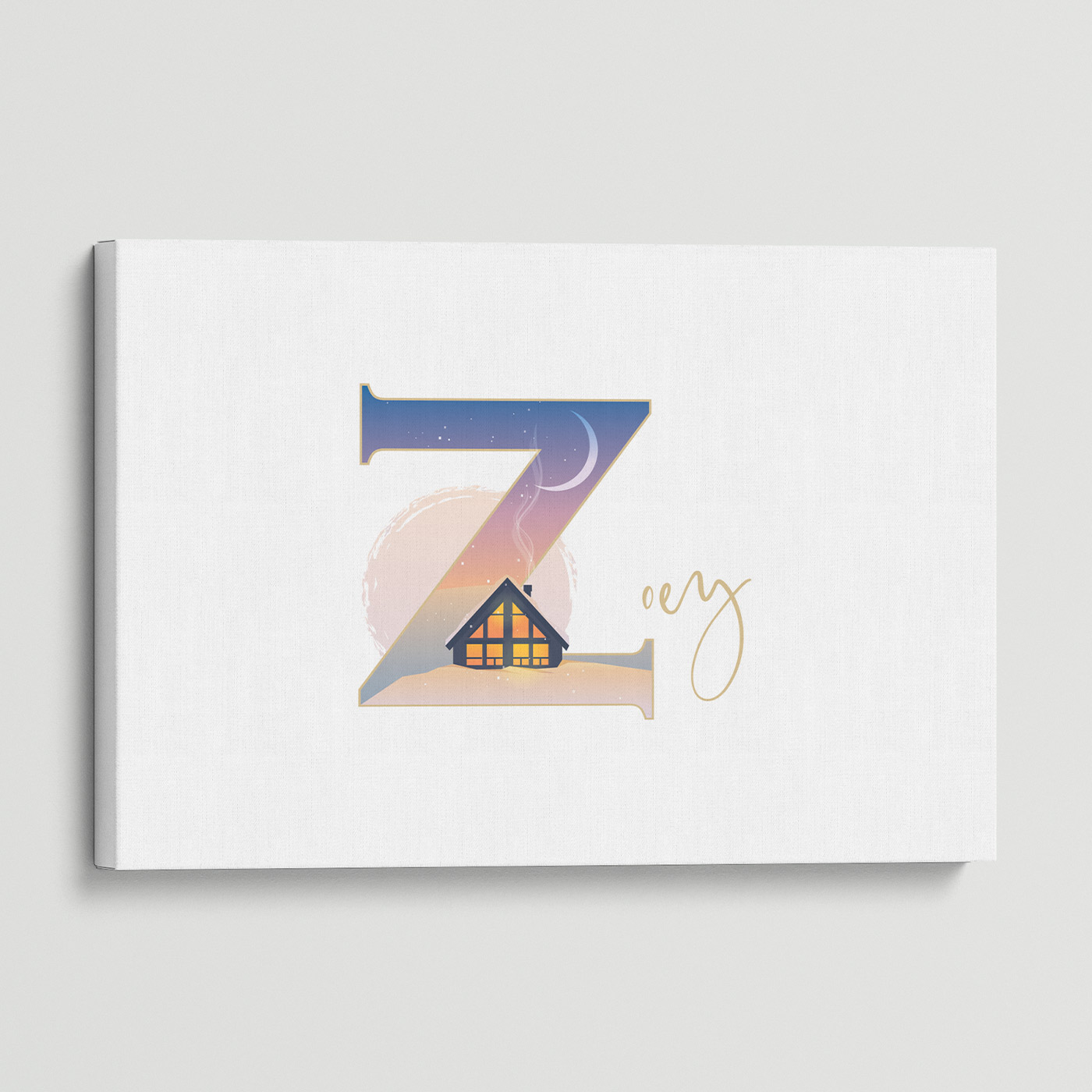 """Illustrated water-colour print of alphabet letter """"Z""""."""