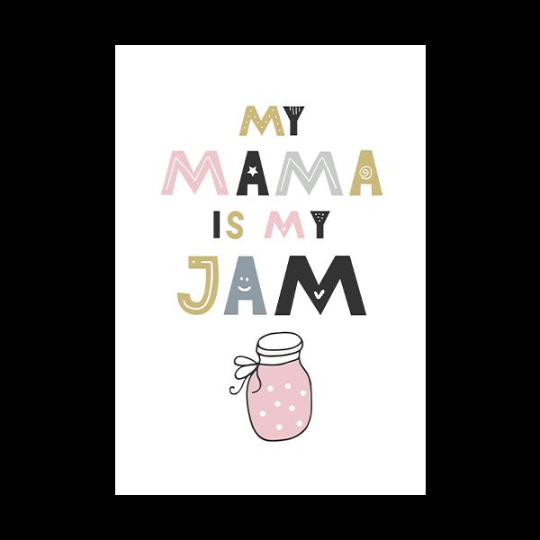 little pink jar of jam.