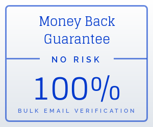 money back guarantee email verification bulk