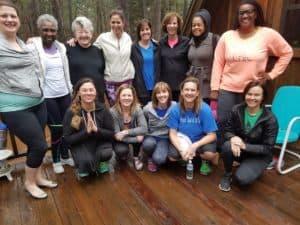 Guests at Yoga Retreat