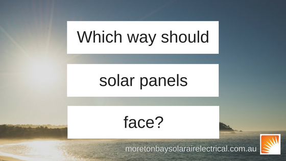 Which way should solar panels face?