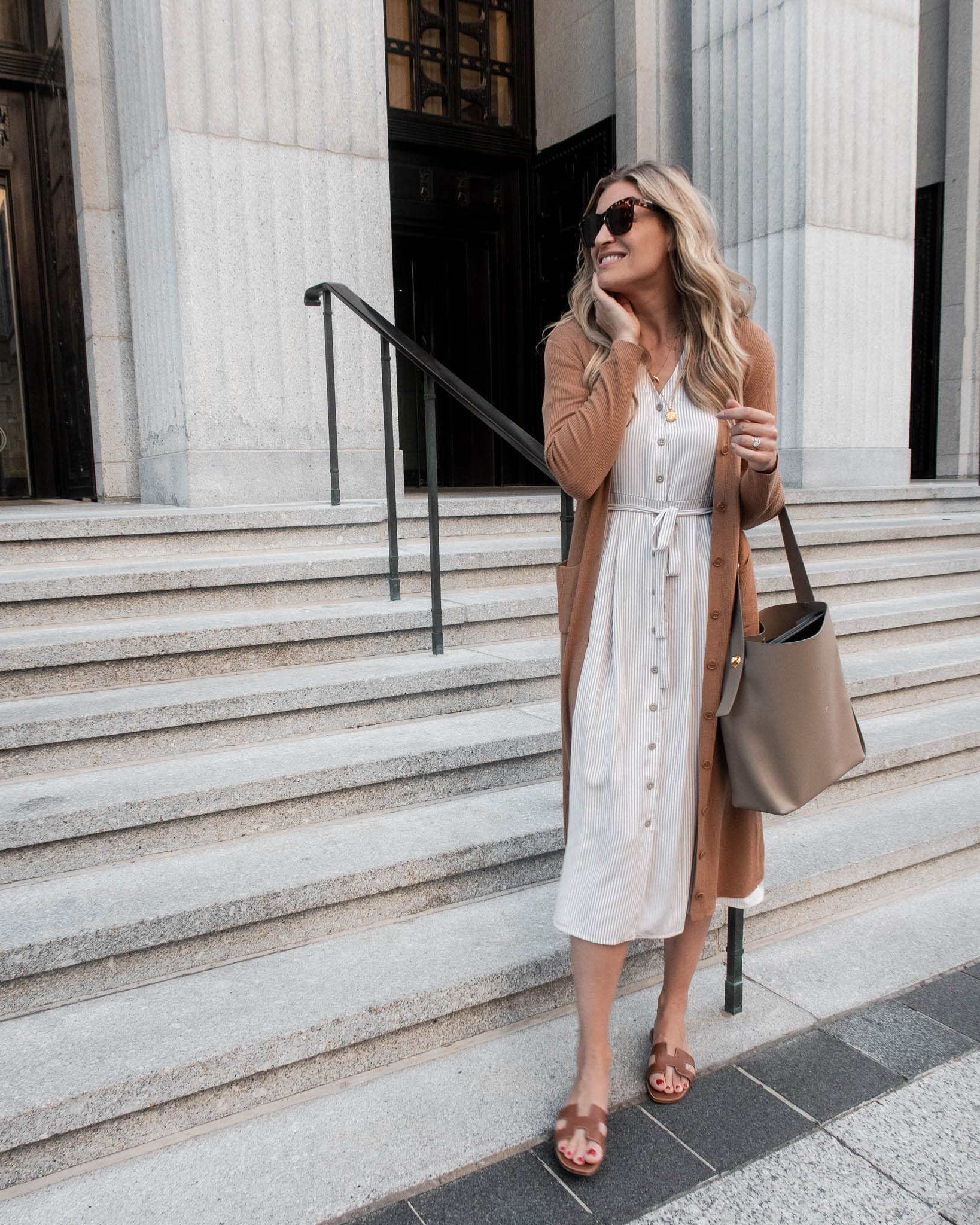 Laura Behnke Boston Back Bay What I Wore Vetta Dress