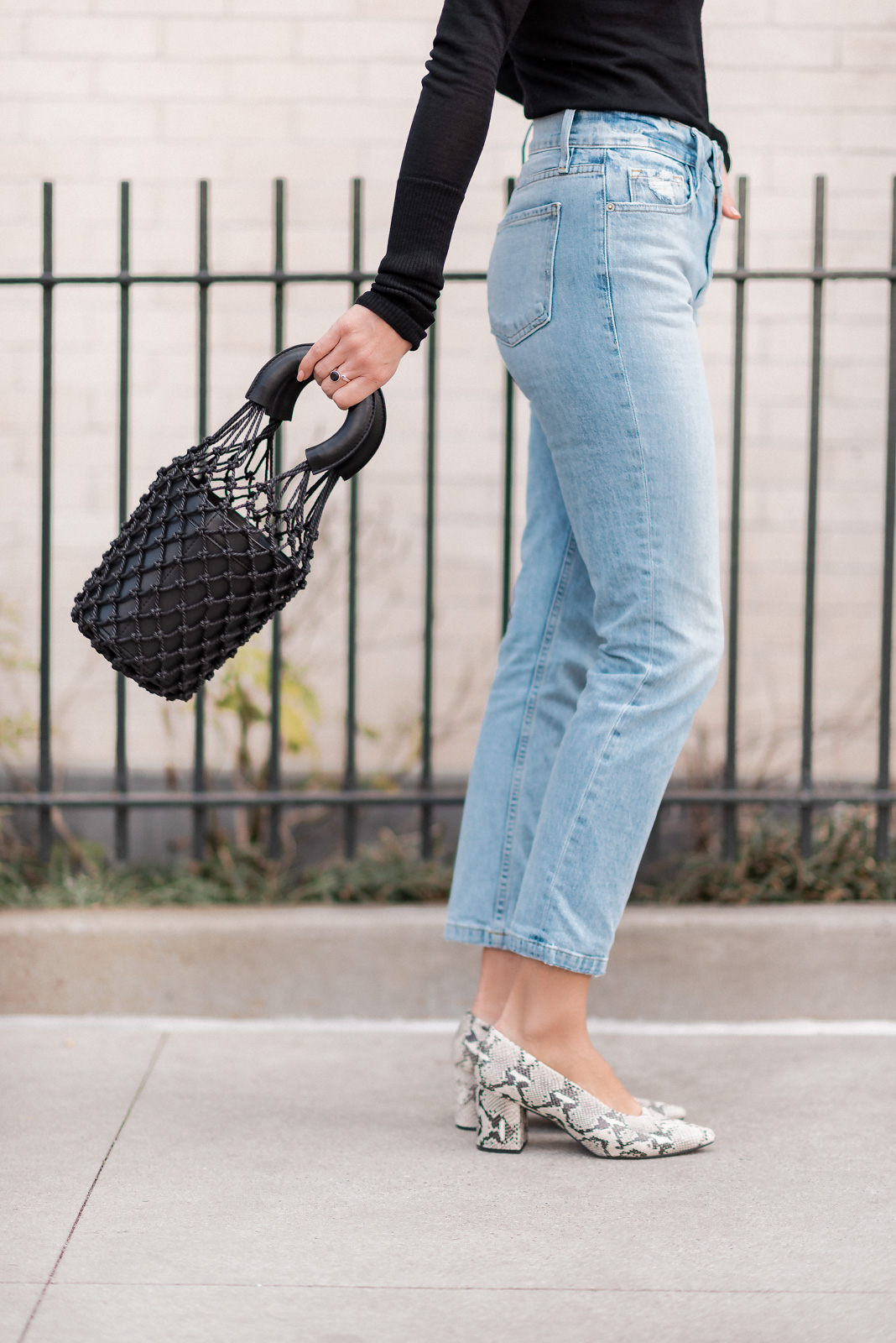 Laura Behnke The Life Actually Company Jeans Turtleneck Simple Style