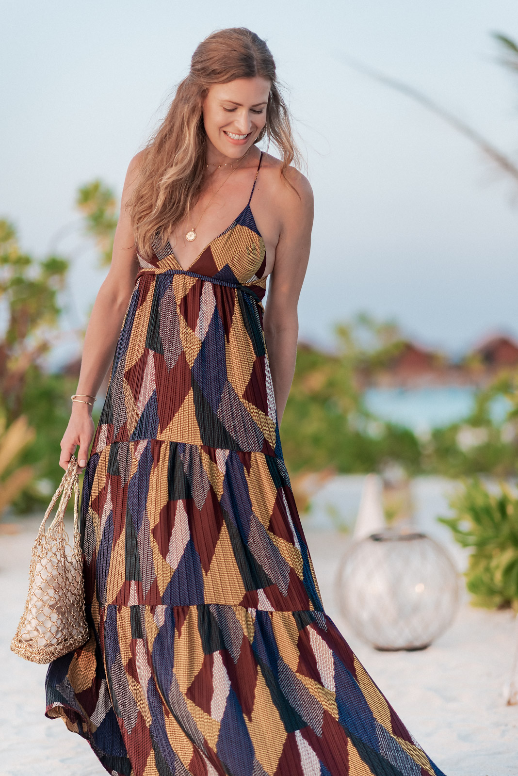 Laura Behnke The Life Actually Company the Maldives BA&SH Dress