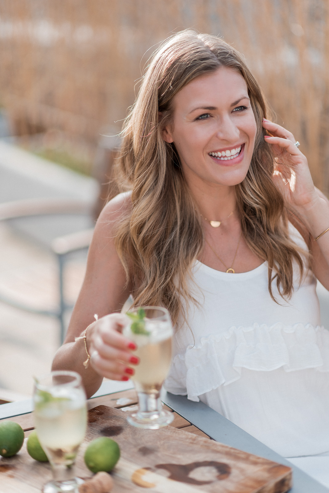 Laura Behnke The Life Actually Company Elderflower Prosecco Cocktail Recipe