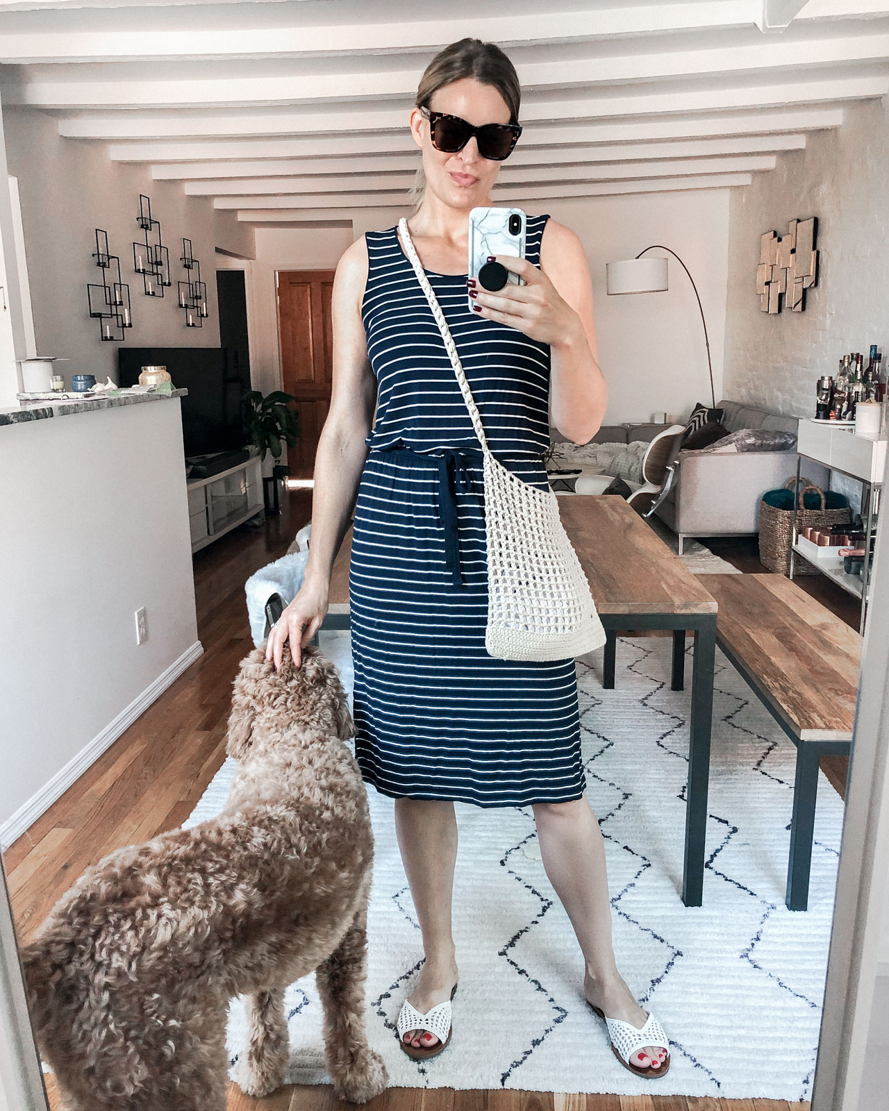Laura Behnke The Life Actually Company What I Really Wore Striped Dress
