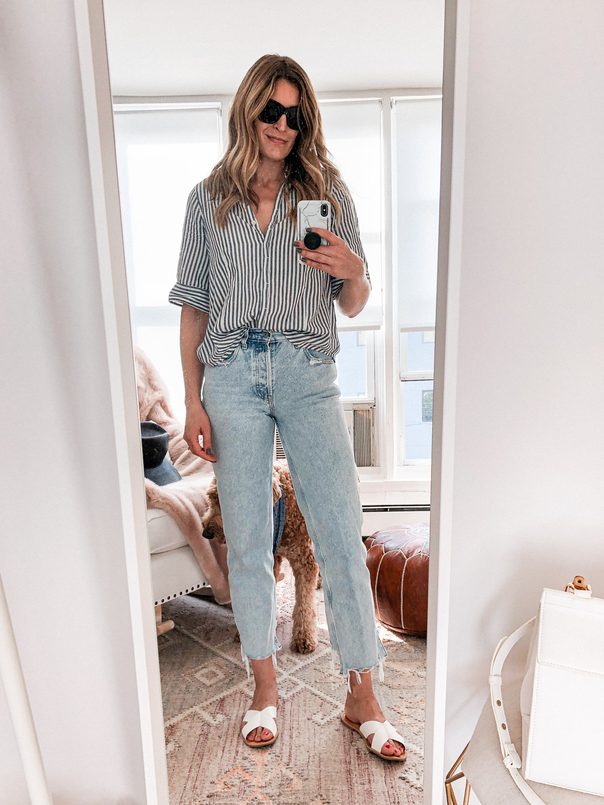 Laura Behnke The Life Actually Company What I Really Wore September J Crew Top Abercrombie Jeans