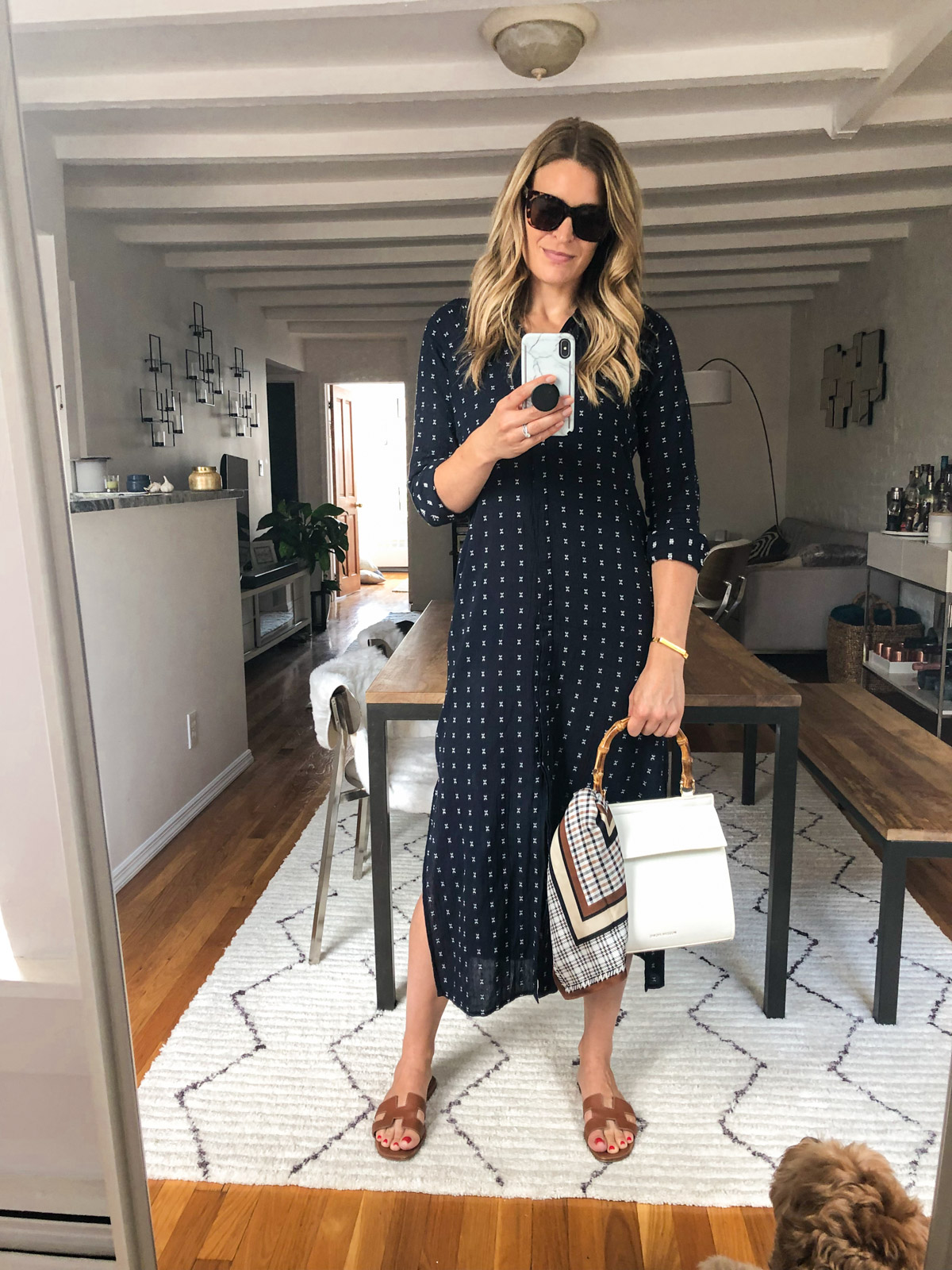 Laura Behnke The Life Actually Company What I Really Wore September The Odells Caftan Dress Modern Picnic