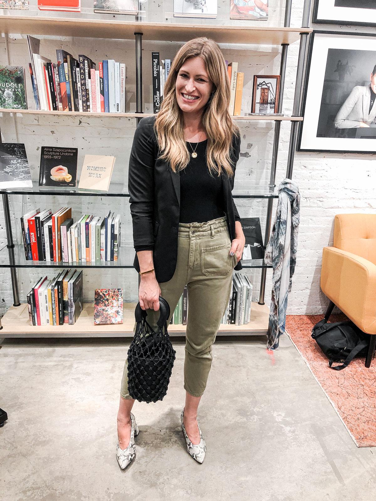 Laura Behnke The Life Actually Company What I Really Wore September Zara Pants Theory Blazer
