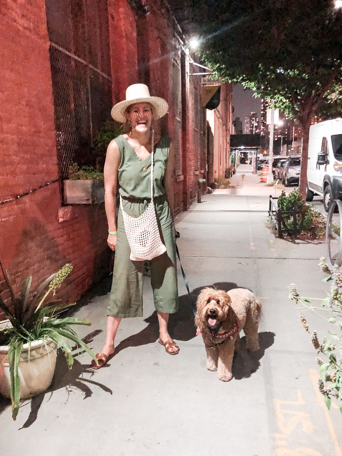 Laura Behnke The Life Actually Company What I Really Wore Old Navy Jumpsuit janessa Leone hat