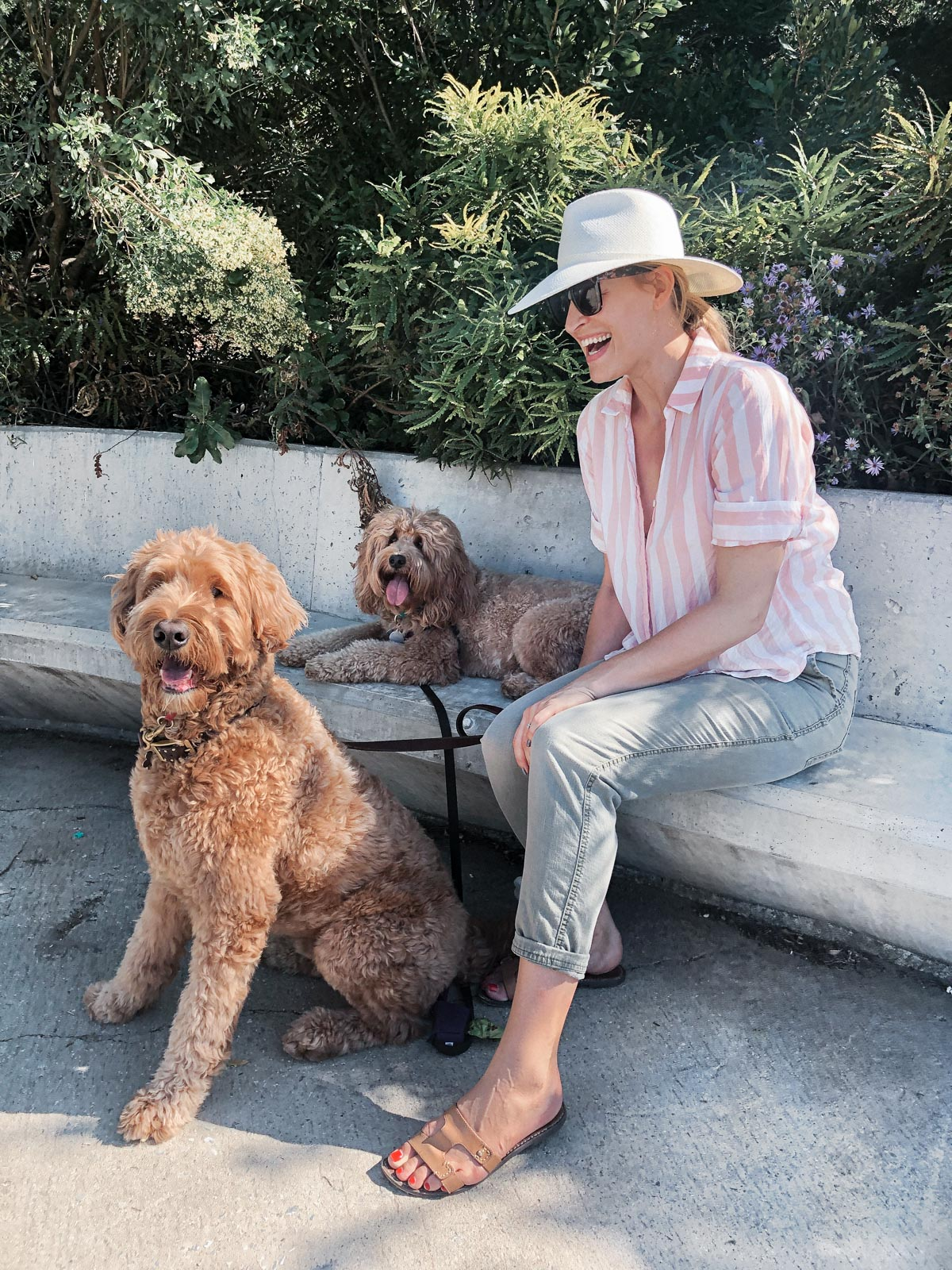 Laura Behnke The Life Actually Company What I Really Wore J. Crew Top Janessa Leone Hat