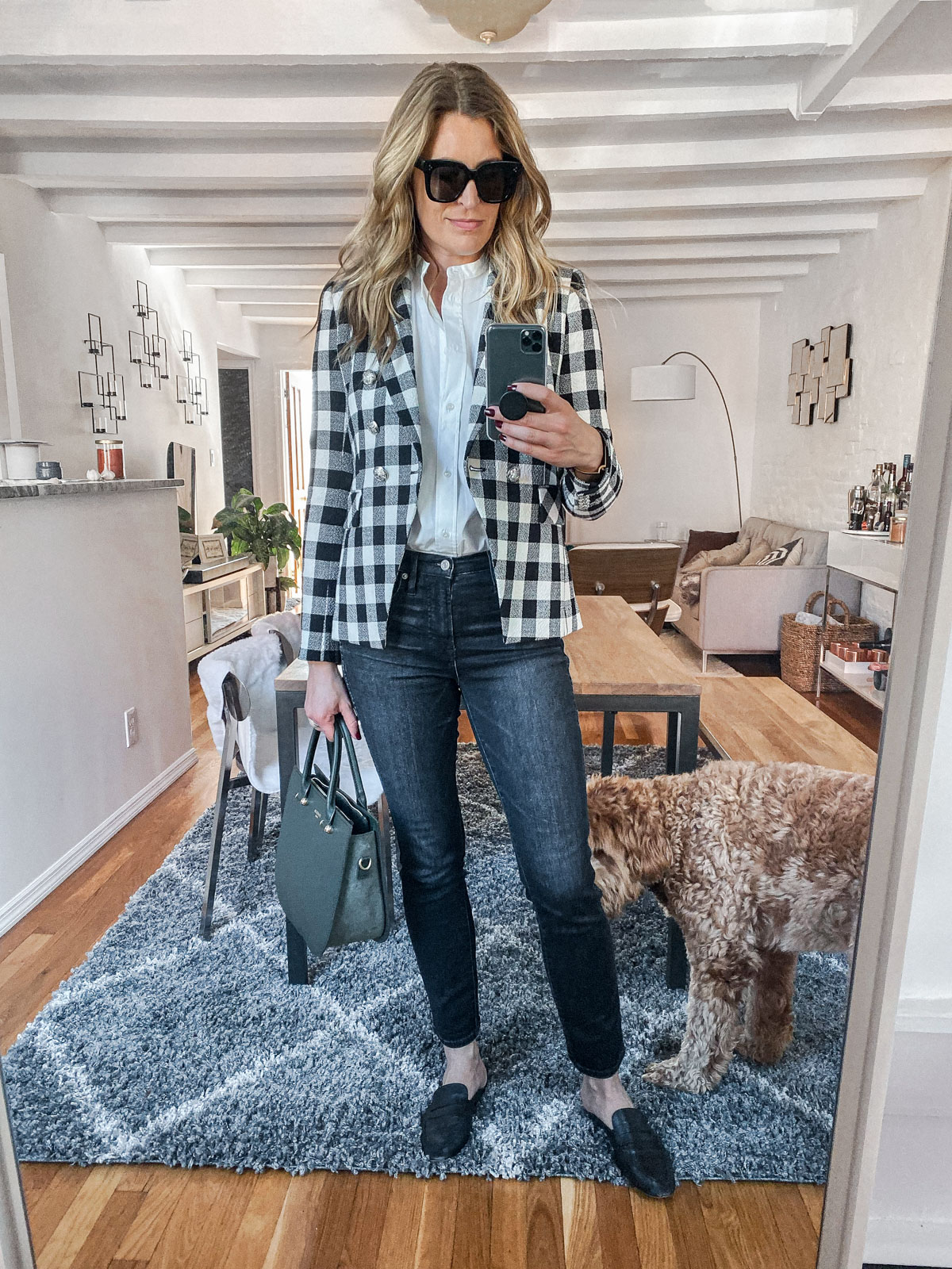 Laura Behnke The Life Actually Company What I Really Wore Veronica Beard Blazer Agolde Jeans