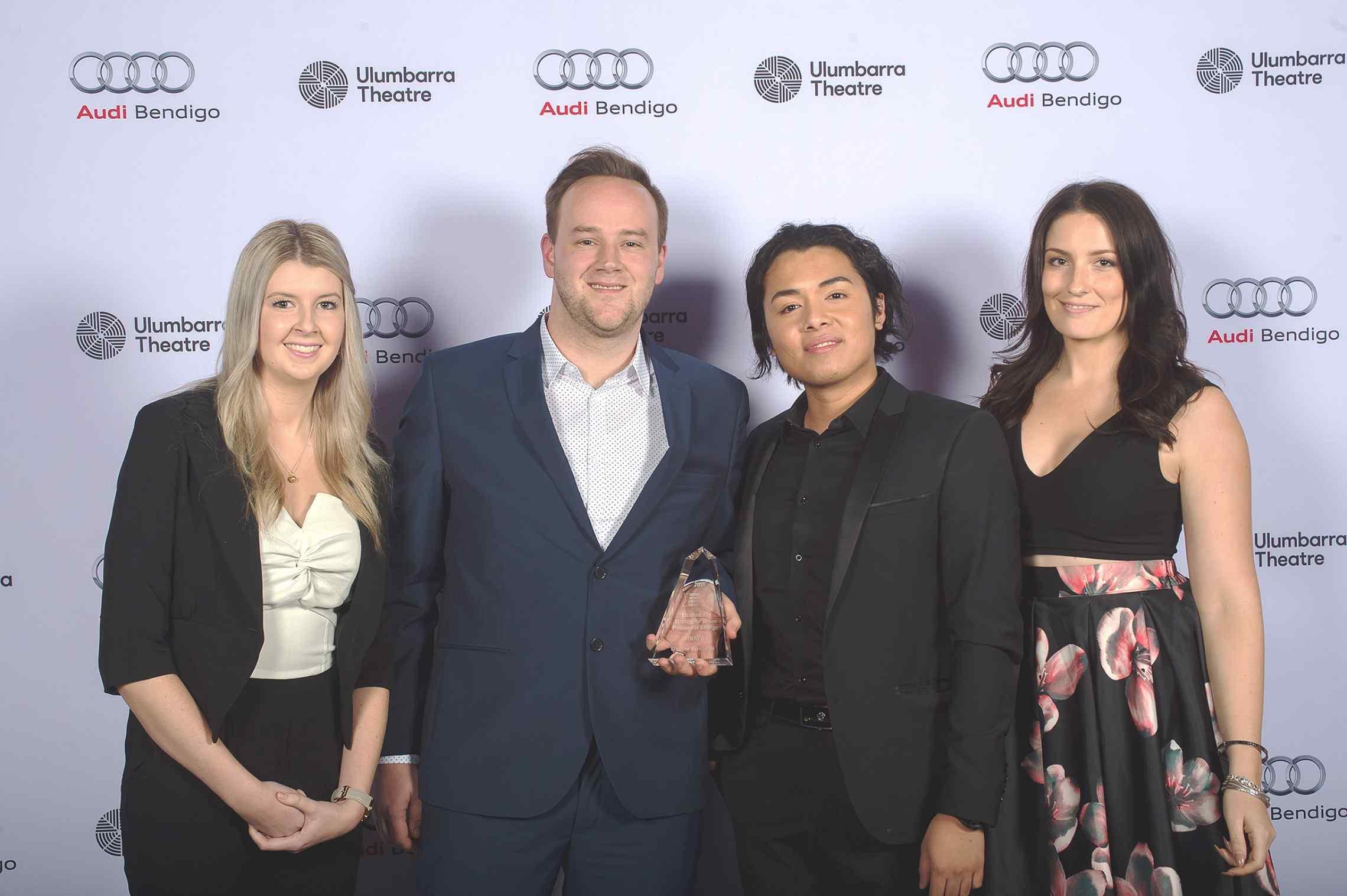 Proud Winners at the Bendigo Business Awards 2016