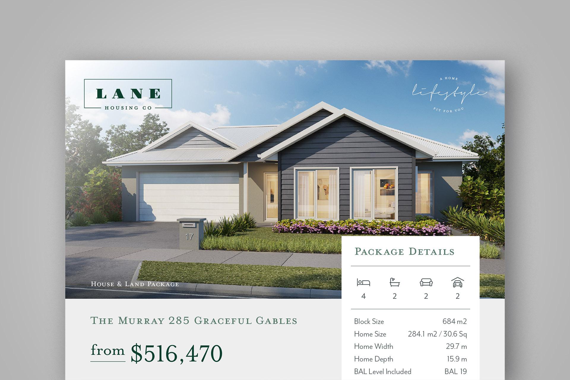 Lane Housing Co. logo design, branding and website design