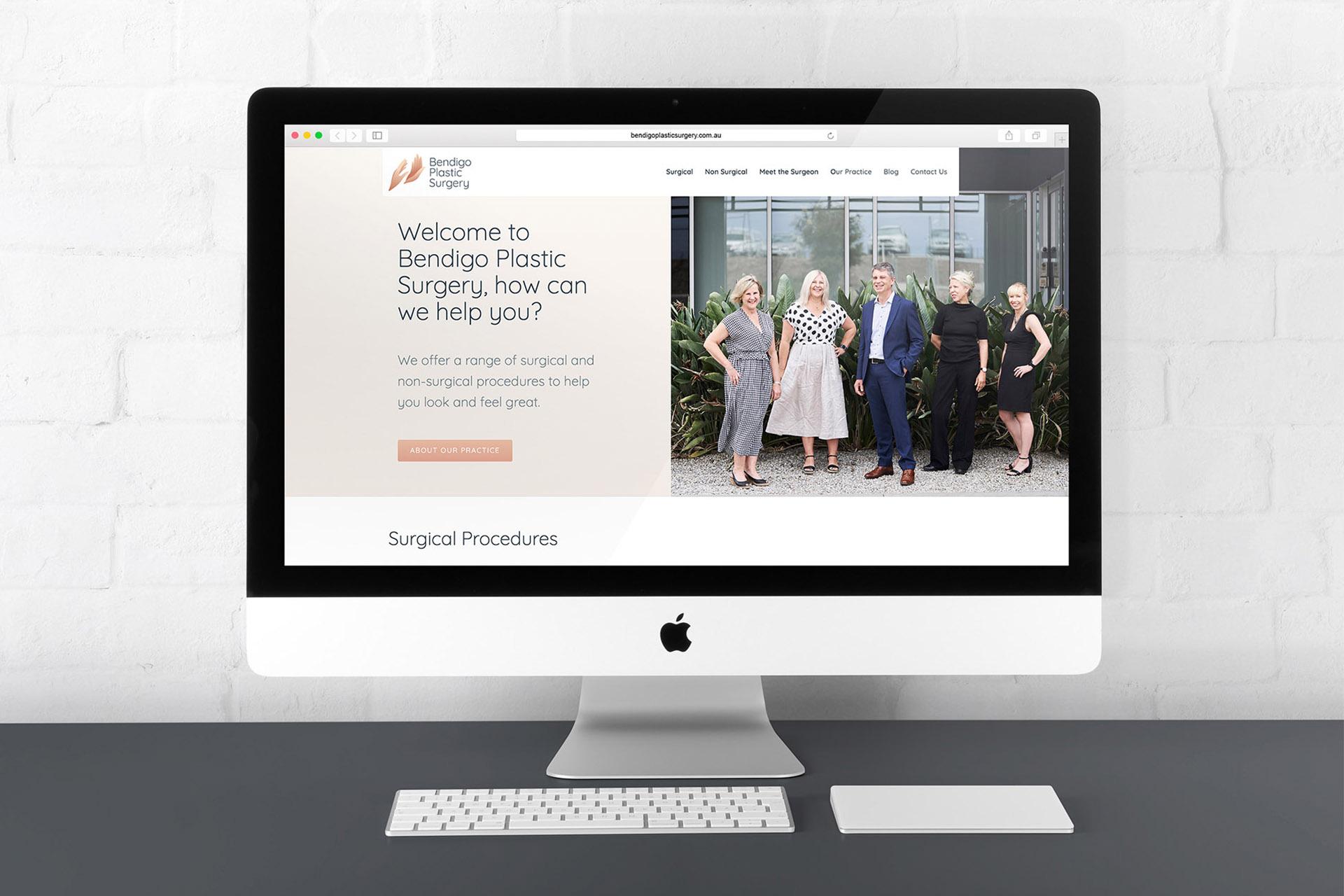 Bendigo Plastic Surgery website development
