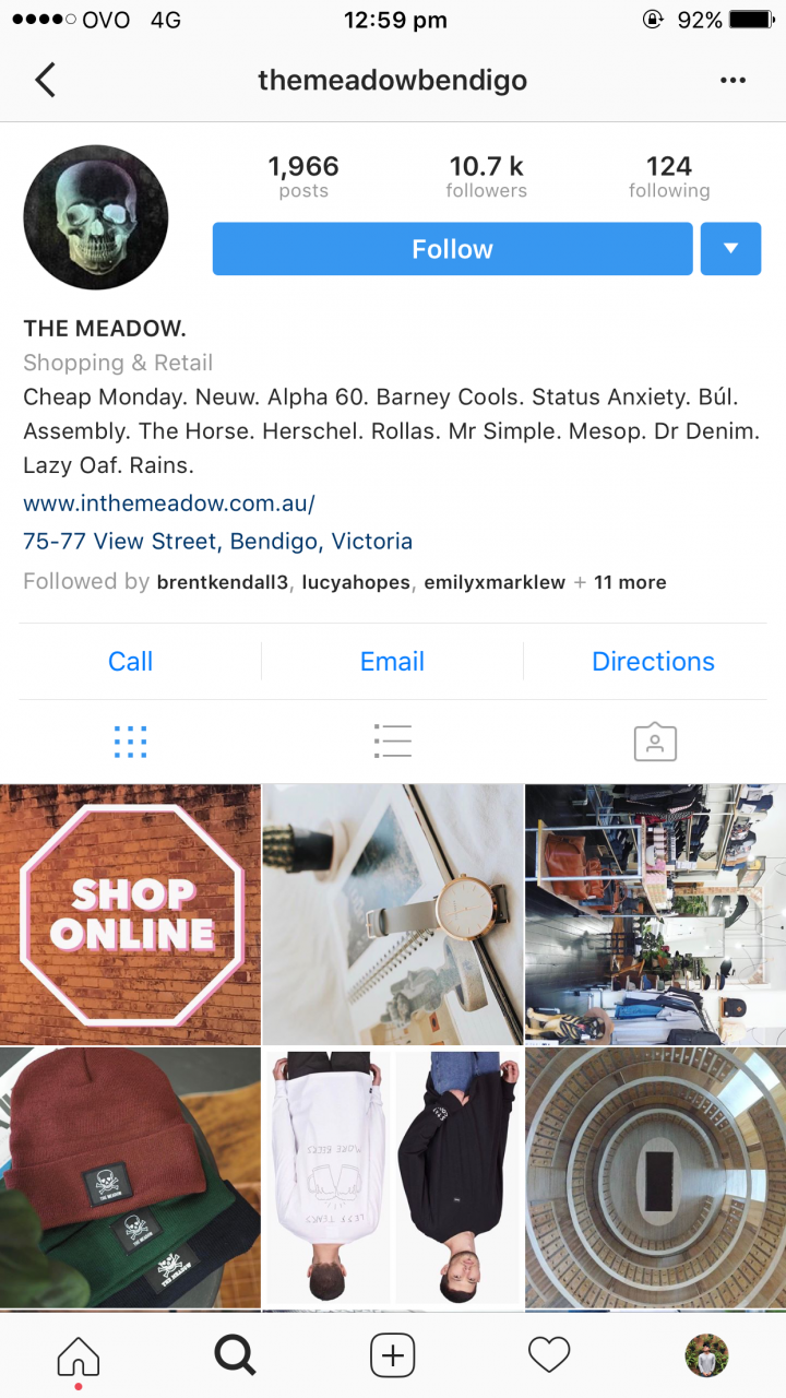 The Meadow – Successful Bendigo Instagram Business