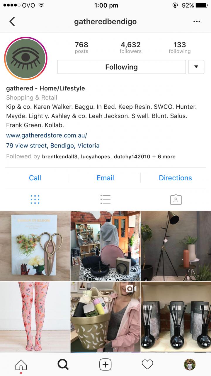 Gathered – Successful Bendigo Instagram Business