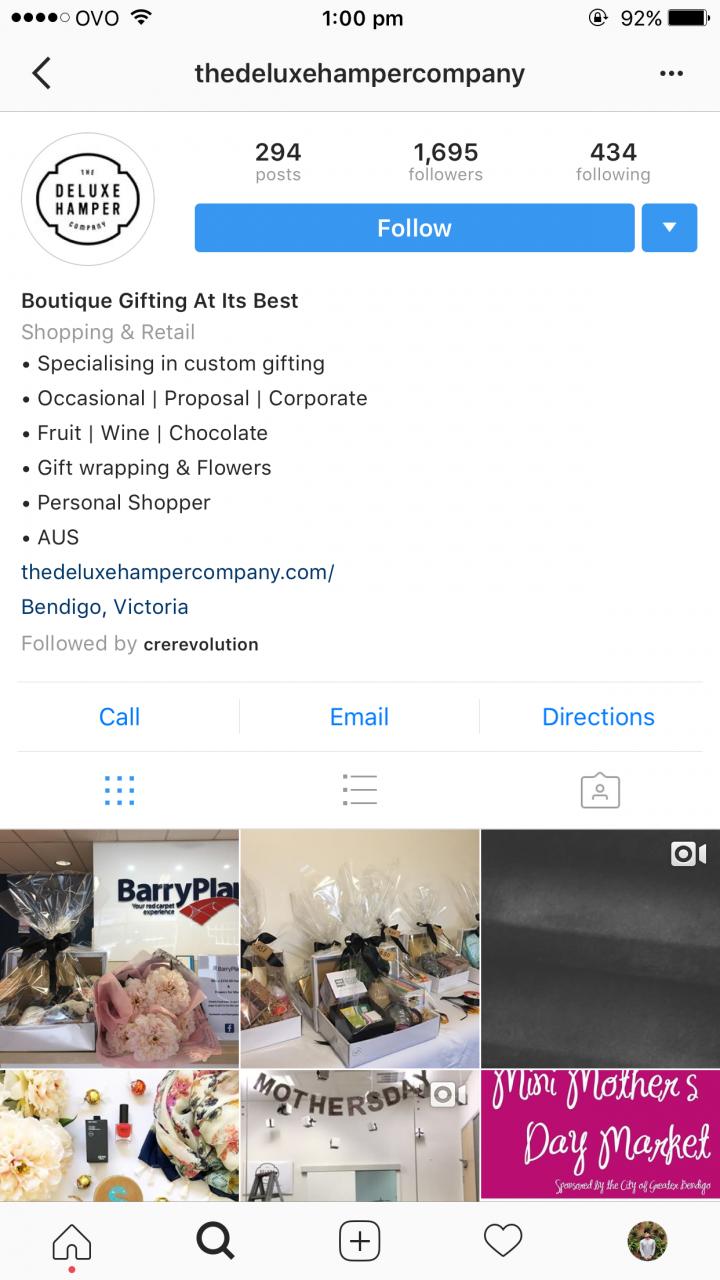 The Deluxe Hamper Company – Successful Bendigo Instagram Business