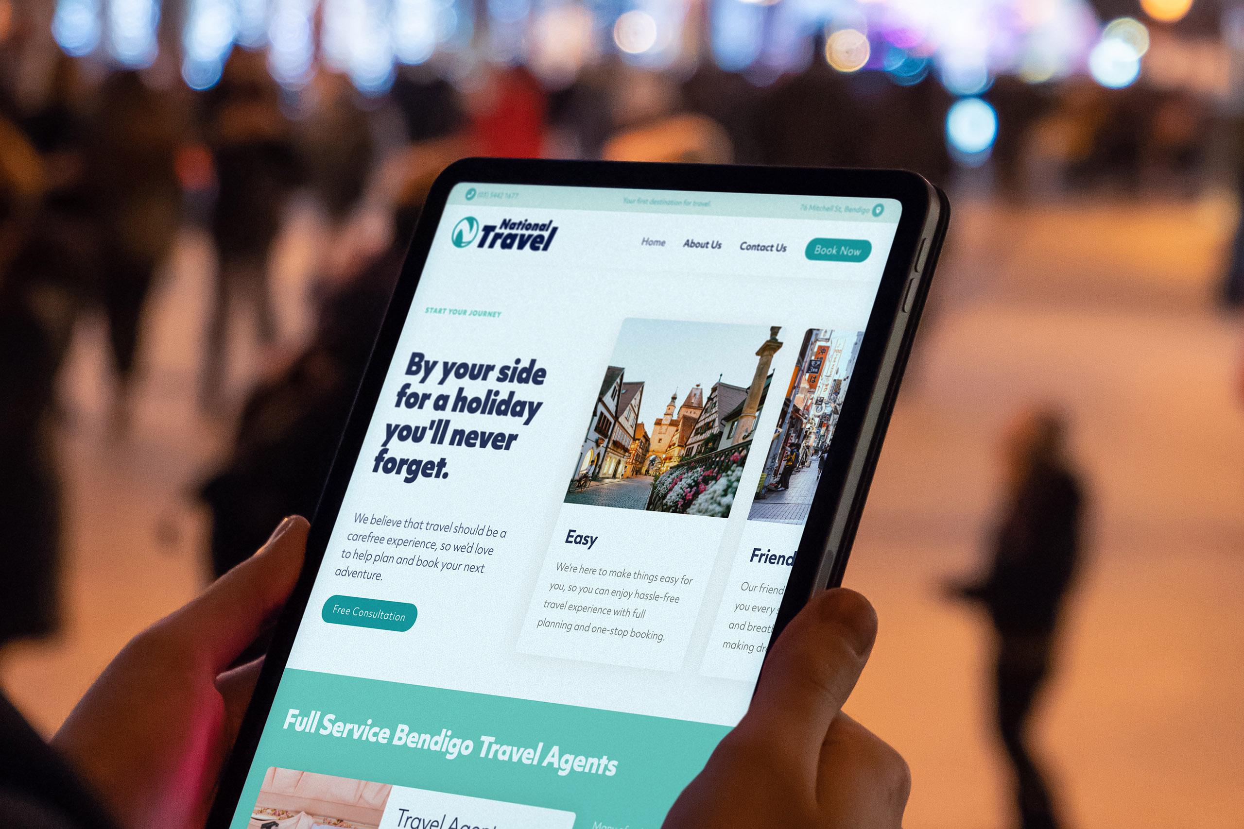 National Travel website design