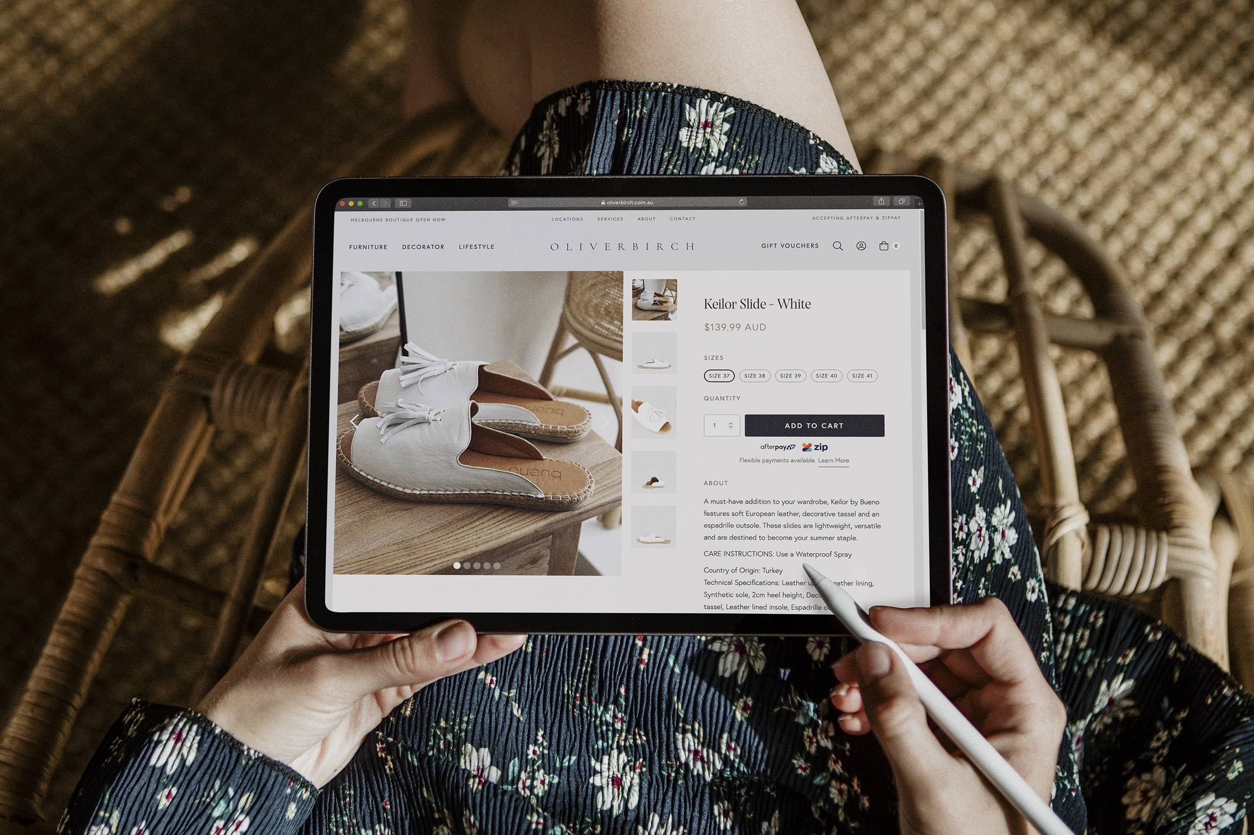 Oliver Birch website design and ecommerce implementation