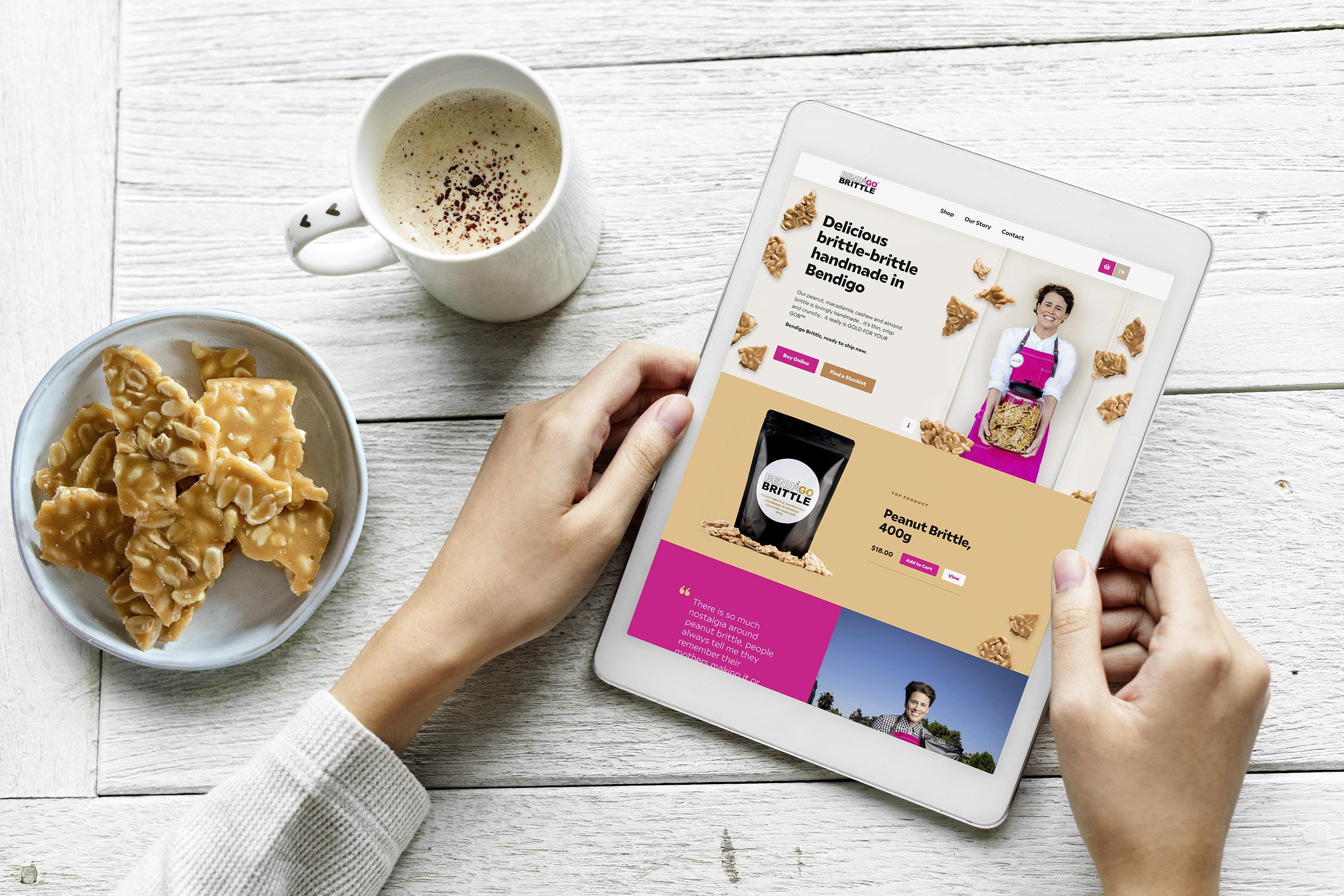 Bendigo Brittle website design and Shopify implementation