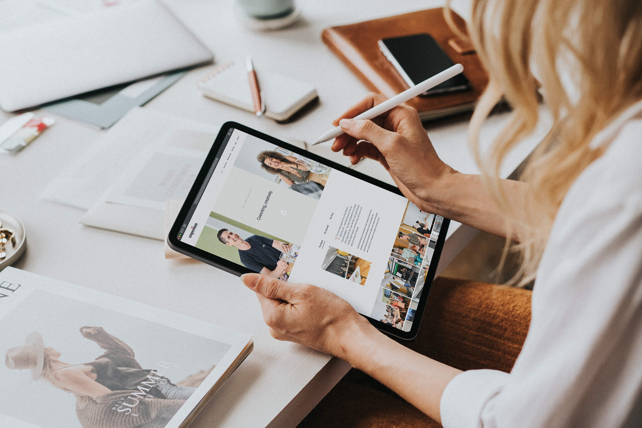 Emporium Creative Hub branding and website design
