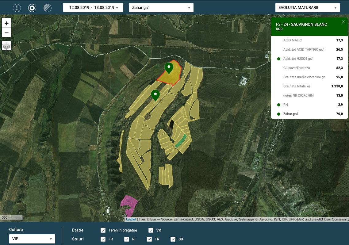 The new FieldBook AgriApps version supports you in determining the optimal harvest time for wine grapes