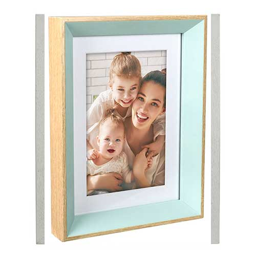 Wood - Aqua Beveled Edge