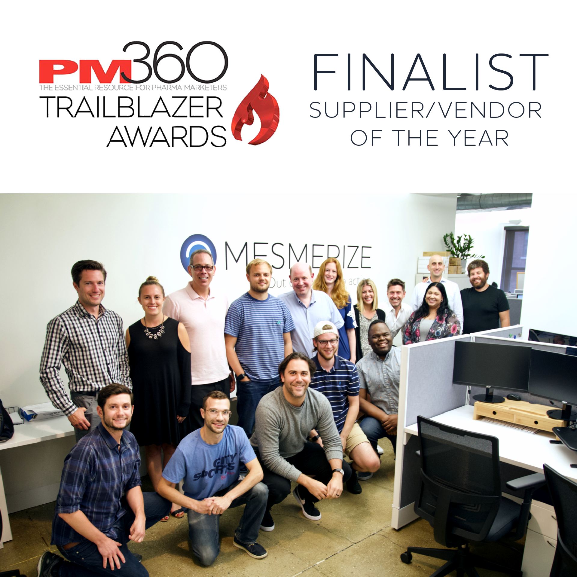 "Mesmerize Chosen as a Finalist for the 2019 Trailblazer Awards ""Supplier/Vendor of the Year"""