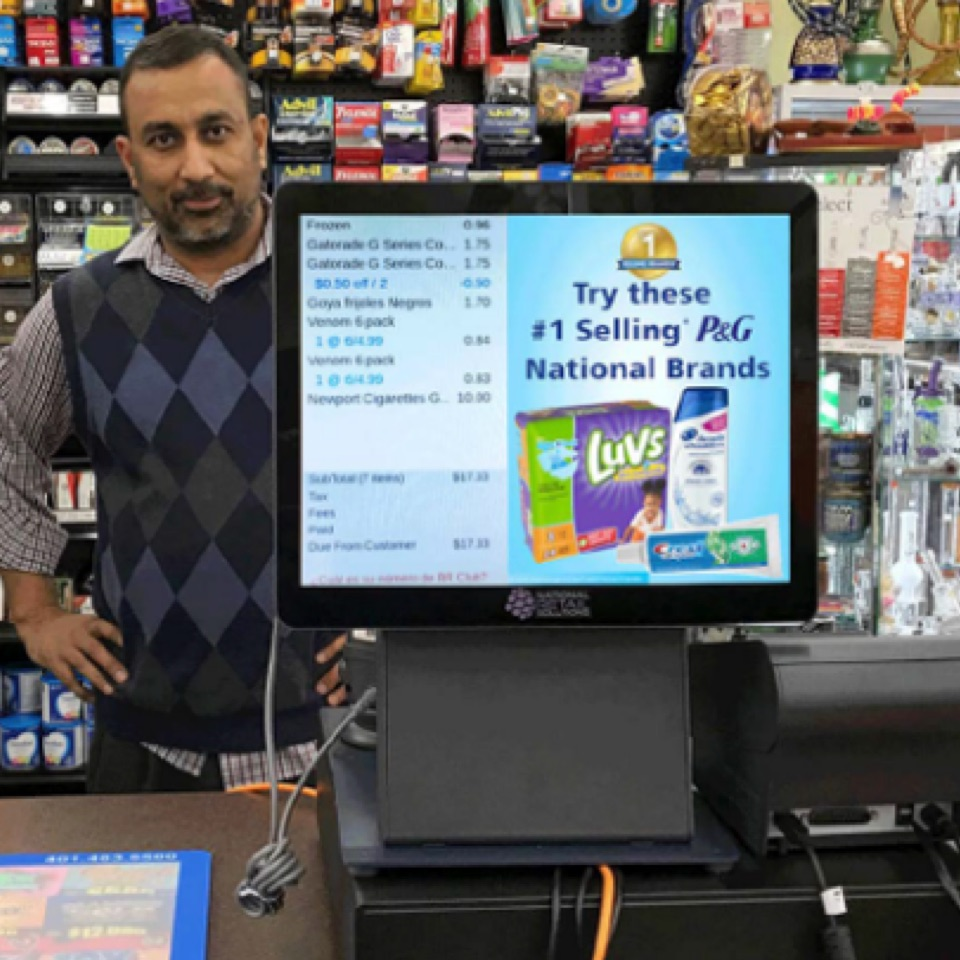 convenience store digital advertising at the point of purchase