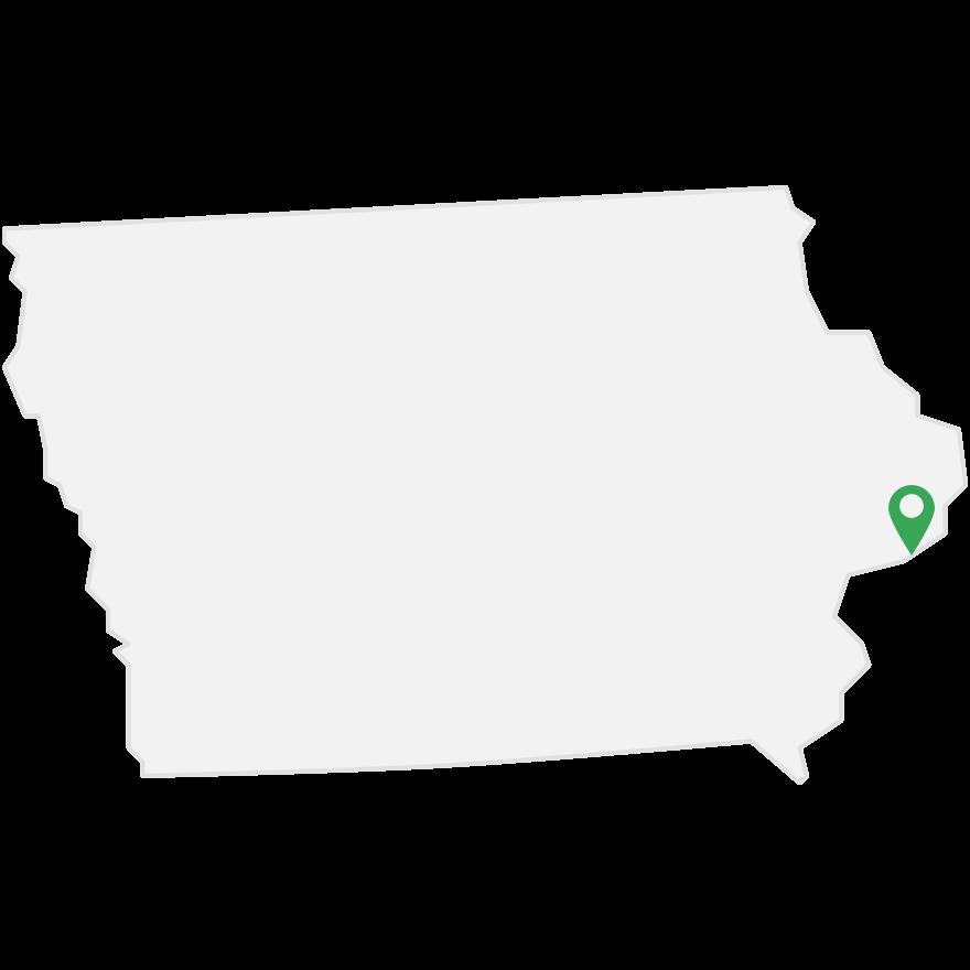 Mesmerize's transit advertising markets in Iowa