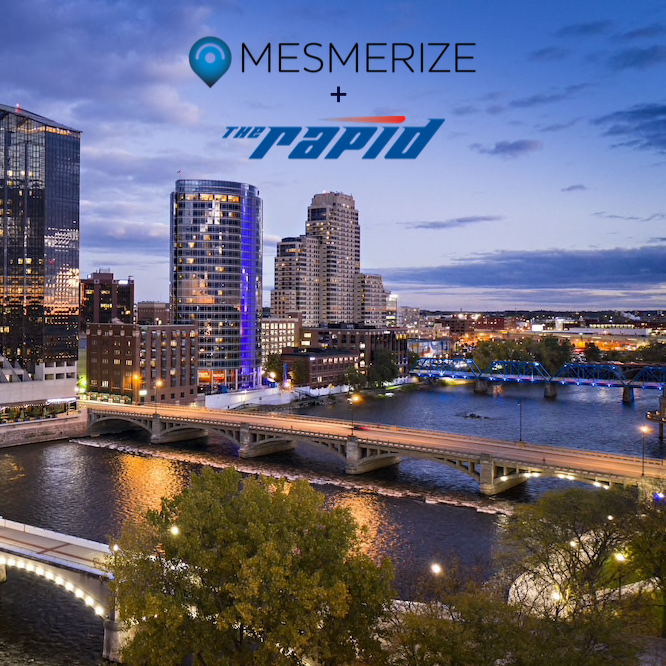 Grand Rapids skyline Mesmerize has a new partnership with the city's sole public transportation provider
