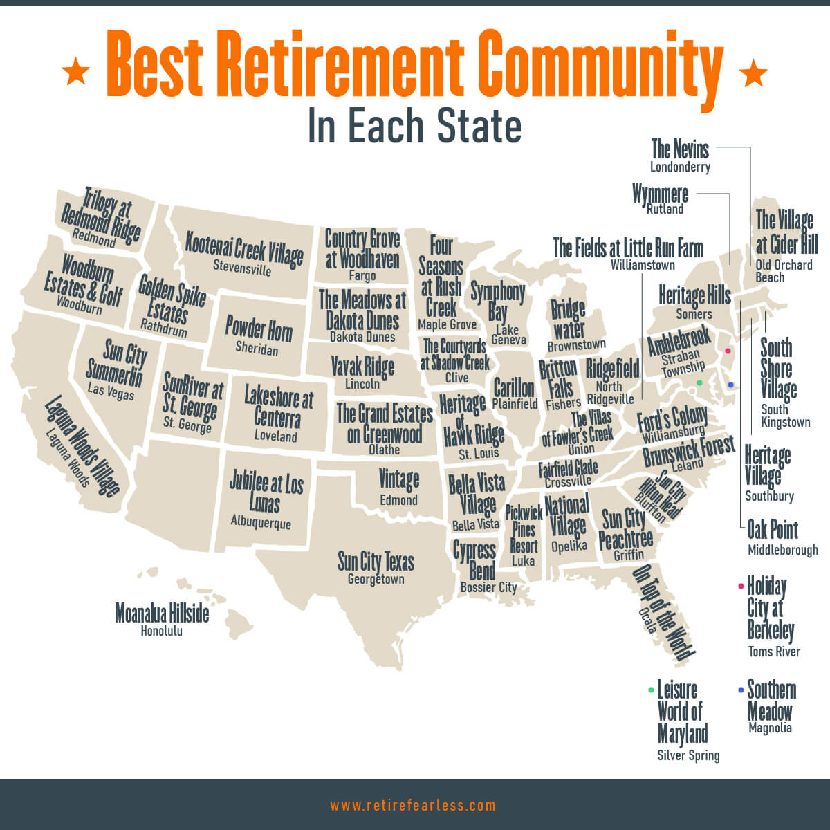 The Best 55+ Retirement Communities (2021)