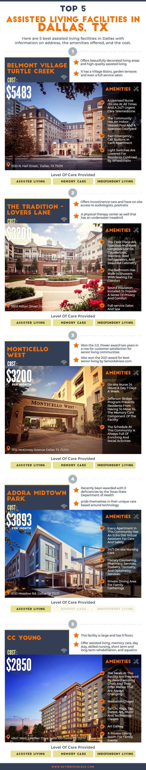 5 Best Assisted Living Facilities Dallas, TX